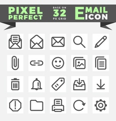 Outline e-mail icons vector image