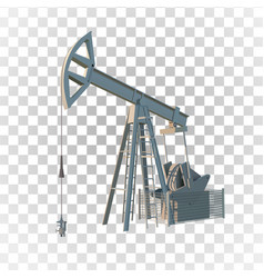petroleum rig oil drill isolated image vector image vector image