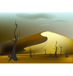 Sandy dune vector