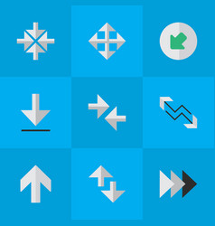 Set of simple arrows icons elements loading vector