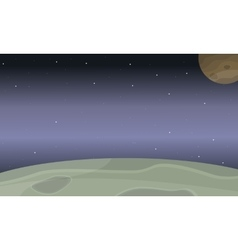 Space planet of landscape vector image