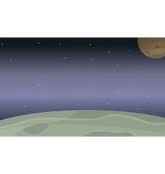 Space planet of landscape vector