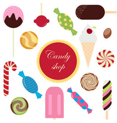 sweet candy shop vector image vector image