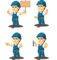 Technician or repairman mascot 9 vector