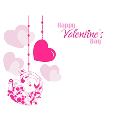Valentine Beautiful Designer Hearts Background vector image