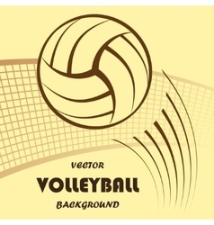 Volleyball yellow background vector image