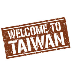 Welcome to taiwan stamp vector