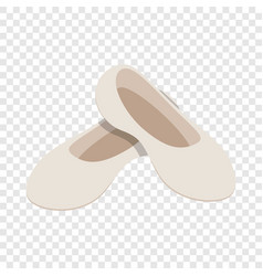 white ballet shoes isometric icon vector image