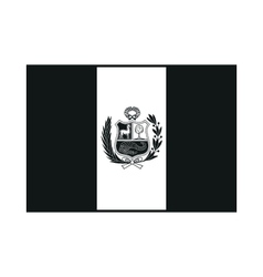 State flag of peru monochrome on white background vector