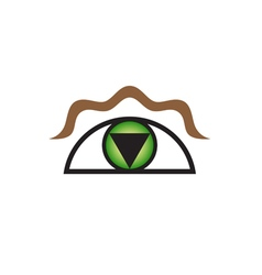 Original stylized eye as symbol for various vector