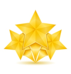 Three golden stars vector