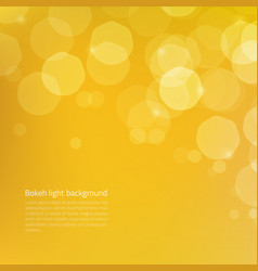 Abstract background with yellow gold glow bokeh - vector
