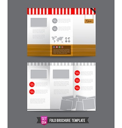 Fold brochure background template 0004 vector