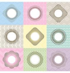 Set of geometric frames vector