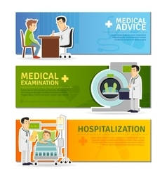Medical banners set vector