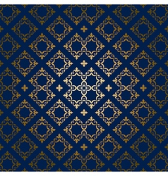 dark blue background with golden ornament vector image