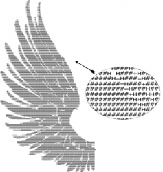 Text wings vector