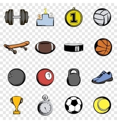Sports set icons vector