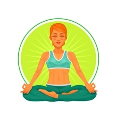 a girl yoga vector image