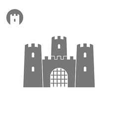 Abstract castle vector image