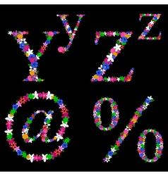 alphabet set 5 vector image