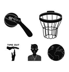 basketball basket autograph on the ball referee vector image