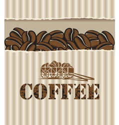 box of coffee vector image