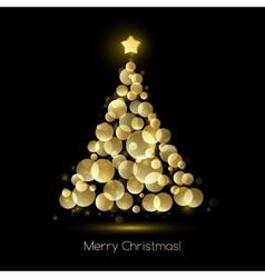Christmas tree greeting vector image vector image