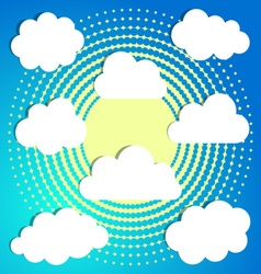 Clouds on halftone background vector image vector image