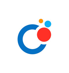 Dot colorful technology logo vector