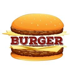 Font design for word burger vector