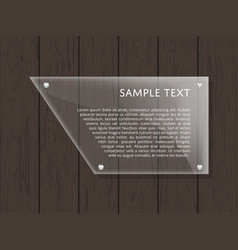 Geometric glass plate with space for text vector