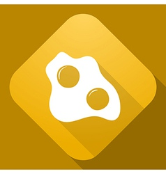 icon of Scrambled Eggs with a long shadow vector image