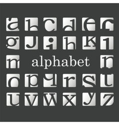 Letters of the alphabeth vector