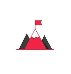 Mission aim achieve icon success leadership vector