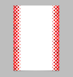 Page template from red diagonal square pattern - vector