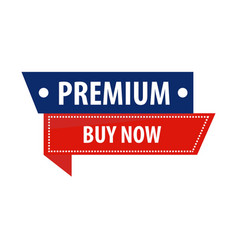 premium buy now sale promotion banner vector image