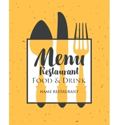 restaurant menu with cutlery vector image vector image