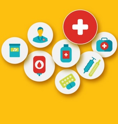set colorful medical icons for your design - vector image vector image