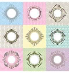 Set of geometric frames vector image