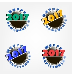 set of hockey and New Year 2017 vector image vector image