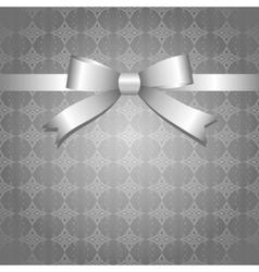 Silver bow vector