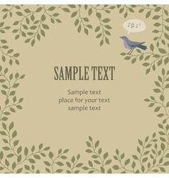 sing bird frame vector image vector image