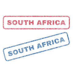 South africa textile stamps vector