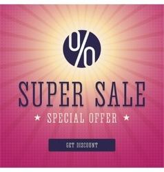 Super sale banner advert vector image vector image