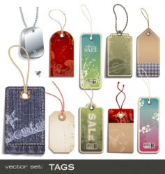 swing tags vector image