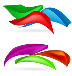 Three colorful abstract forms vector image vector image
