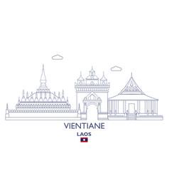 Vientiane city skyline vector
