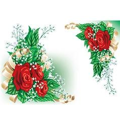Whimsical red rose design vector