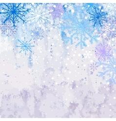 Winter snowstorm background vector image vector image